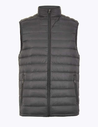 La Redoute Collections Lightweight Feather Padded Gilet Black Size XXL