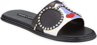 Alice + Olivia Valma Stace Face Slide Sandals
