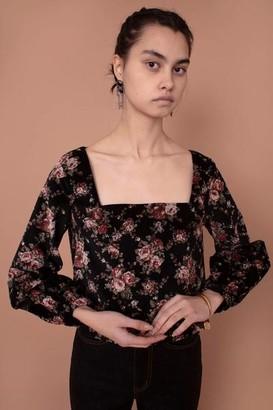 Meadows Marigold Black Floral Top - 10