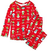 Sara's Prints Infant Girls' Merry Christmas Pajama Set - Sizes 12-24 Months