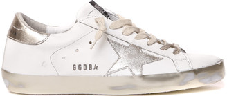 Golden Goose White & Gold Superstar Leather Sneaker