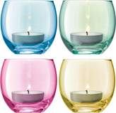LSA International Polka Tealight Holder H6.5cm Pastel Assorted S4