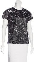 Balenciaga Graphic Print Short Sleeve Top