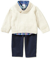 Starting Out Baby Boys 3-24 Months 3-Piece Shawl Collar Sweater Set