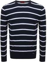 Hugo By HUGO BOSS Simun Knit Jumper Navy