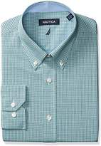 Nautica Men's Microgingham Buttondown Collar Dress Shirt