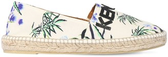 Kenzo 10mm Printed Cotton Canvas Espadrilles