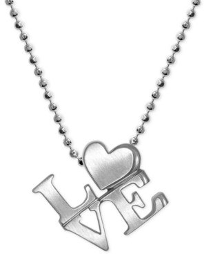 """Alex Woo Love"""" Heart Pendant Necklace in Sterling Silver"""