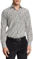 Etro Printed Long-Sleeve Sport Shirt, White/Black
