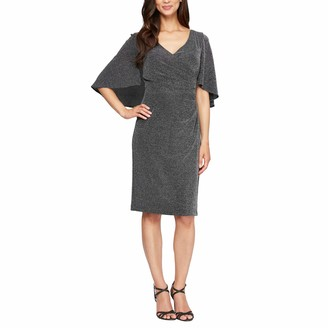 Alex Evenings Women's Long Metallic Knit Column Dress
