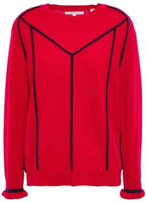 Chinti and Parker Ruffle-trimmed Wool And Cashmere-blend Sweater