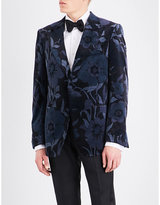 Tom Ford Shelton regular-fit floral velvet jacket