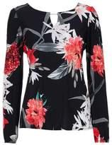 Wallis Black Floral Print T-Shirt