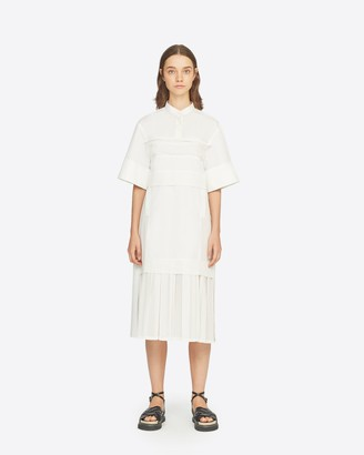 3.1 Phillip Lim Short Sleeve Pleated Hem Dress