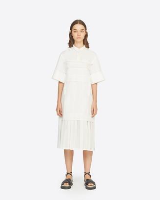 3.1 Phillip Lim Short Sleeve Pleated Hem Dress
