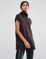 Vila Roll Neck Knitted Tunic