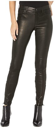 J Brand L8001 Mid-Rise Skinny Pants in Noir (Noir) Women's Casual Pants