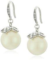 "Carolee Washington Square"" Pearl Pierced Drop Earrings"
