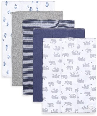 Burt's Bees Wandering Elephants Organic Baby Burp Cloth 5 Pack