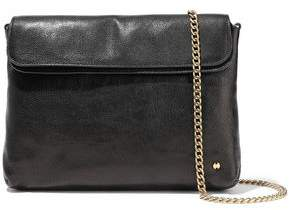 Halston Tina Pebbled-leather Clutch