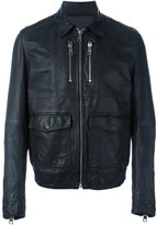 Just Cavalli zipped leather jacket