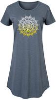 Instant Message Women's Women's Tee Shirt Dresses HEATHER - Heather Blue Mandala Sunset Short-Sleeve Dress - Women & Plus
