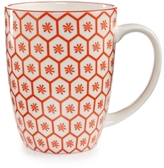 Certified International Chelsea Collection Red Beehive/Aqua Mug