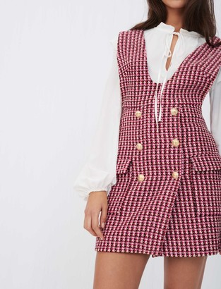Maje Trompe-lil tweed dress