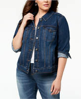 Style&Co. Style & Co Plus Size Denim Jacket, Created for Macy's
