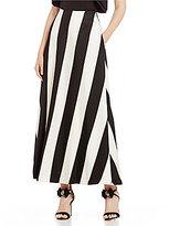 Belle Badgley Mischka Sienna Striped Maxi Skirt