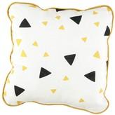 Nobodinoz Yellow and Black Triangle Cushion 19x19 cm