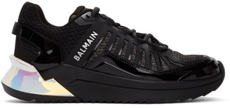Balmain Black and Silver B-Trail Sneakers