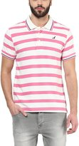 American Crew Men's Polo Collar Stripes T-Shirt -L (AC52A-L)