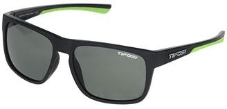 Tifosi Optics Swick (Satin Black/Neon Frame Smoke Polarized Lens) Sport Sunglasses