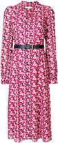 MICHAEL Michael Kors floral-print belted midi shirt dress