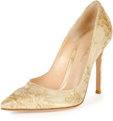 Gianvito Rossi Lace Point-Toe 105mm Pump