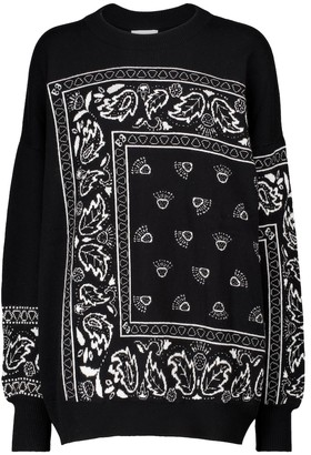 Barrie Exclusive to Mytheresa Bandana-print cashmere-blend sweater