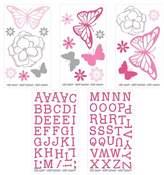 NoJo Wall Decal Nursery Pink Butterfly