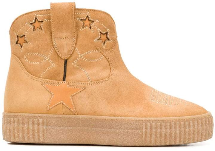 Golden Goose star patch ankle boots