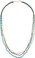 Nakamol Long Triple-Strand Beaded Stone Necklace, Multi