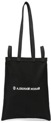 MM6 MAISON MARGIELA Berlin Logo-print Cotton-canvas Tote Bag - Black