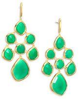 Monica Vinader Siren Green Onyx Chandelier Earrings