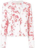 Giambattista Valli scalloped trim floral jacket