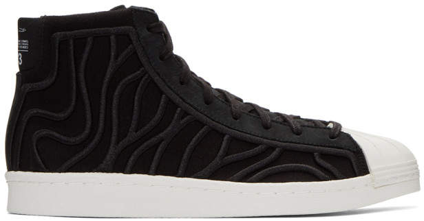 Y-3 Black Shishu Super Sneakers