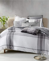Hotel Collection Linen Plaid Bedding Collection, Created for Macy's
