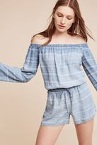 Cloth & Stone Faith Striped Off-The-Shoulder Romper