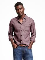 Old Navy Slim-Fit Herringbone Grindle Shirt for Men