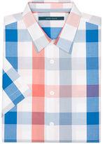 Perry Ellis Short Sleeve Multi-Color Check Shirt
