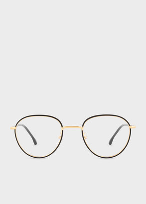 Paul Smith Black Ink And Gold 'Albion' Spectacles