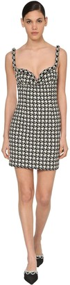 Area Wool Jacquard Houndstooth Mini Dress